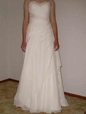 Mancini – Size 10 Chiffon dress | Second hand wedding dresses Oaklands Park - Size 10