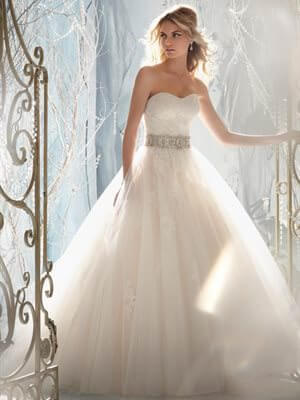 Mori Lee – Size 10 Tulle dress | Second hand wedding dresses Murrumba Downs - Size 10
