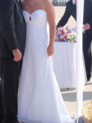 Chiffon dress – Size 12 A-Line dress | Second hand wedding dresses melbourne - 2