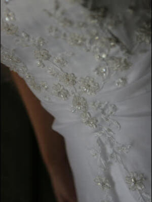 Henri Josef – Size 10 Satin dress | Second hand wedding dresses Narre Warren - 2