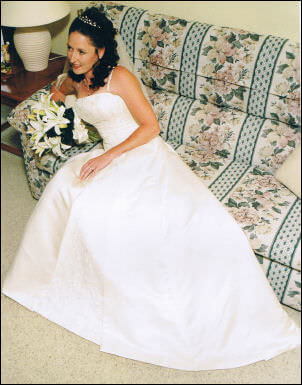 Abbey Bridal – Size 10 Satin dress | Second hand wedding dresses Winmalee - 2