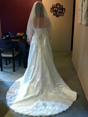 Size 12 dress | Second hand wedding dresses Warranwood - 2
