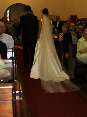 Pallas Couture – Size 8  dress | Second hand wedding dresses Caringbah South - 2