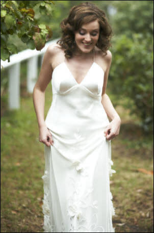 Mira Mandic – Size 10 Satin dress | Second hand wedding dresses Fitzroy North - Size 10
