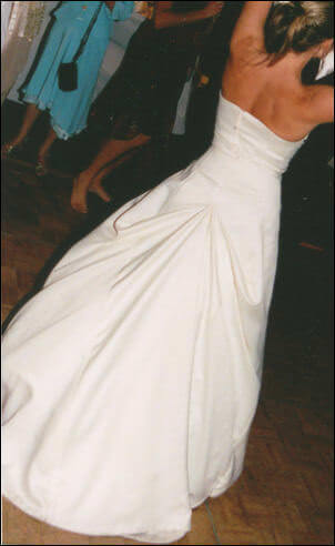 Raffaele Ciuca – Size 12 DuchesseSatin dress | Second hand wedding dresses Donvale - 2