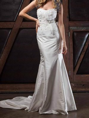 Jason Grech White – Size 8  dress | Second hand wedding dresses Tarneit - Size 8