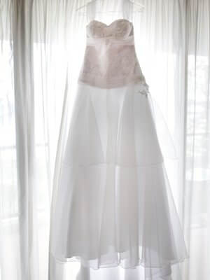 Chiffon dress – Size 10 A-Line dress | Second hand wedding dresses Oxenford - Size 10