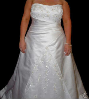 Raylia Designs – Size 20 Satin dress | Second hand wedding dresses Tamworth - Size 20