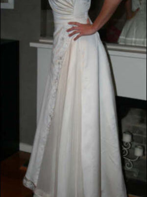 Maggie Sottero – Size 10 Satin dress | Second hand wedding dresses South Croydon - 2