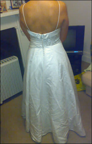 Connie Simonetti – Size 12 Satin dress | Second hand wedding dresses Carlton - 2