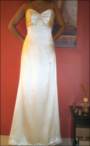 Satin dress – Size 10 Satin dress | Second hand wedding dresses North Parramatta - Size 10