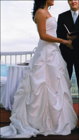 Maggie Sottero – Size 10 Satin dress | Second hand wedding dresses Morayfield - Size 10