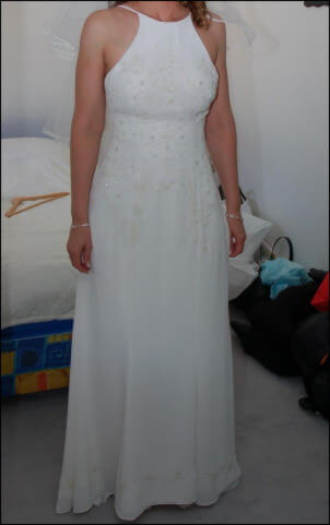 Georgette dress – Size 10 Georgette dress | Second hand wedding dresses Tullamarine - Size 10
