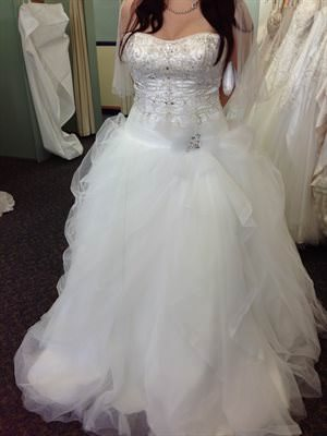 Maggie Sottero – Size 16 Tulle dress | Second hand wedding dresses Birmingham Gardens - Size 16