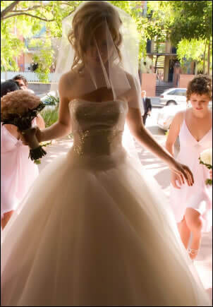 Justin Alexander – Size 8 Organza dress | Second hand wedding dresses Clayfield - Size 8
