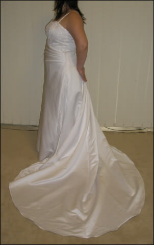 Peter Trends – Size 14 Polyester dress   Second hand wedding dresses Chatswood - Size 14