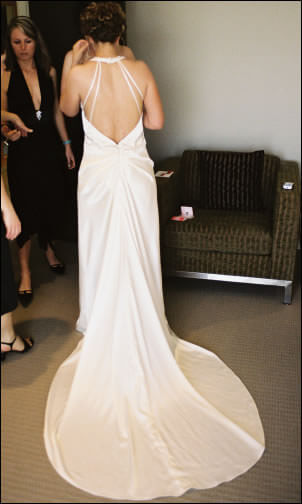 Maria Chiodo – Size 10 Polyester dress | Second hand wedding dresses Leichhardt - 2