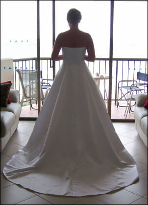 Size 10 dress | Second hand wedding dresses Broadbeach - 2
