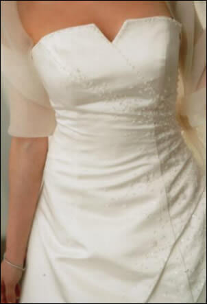 Bridal Designs – Size 8 DuchesseSatin dress | Second hand wedding dresses West Sunshine - 2