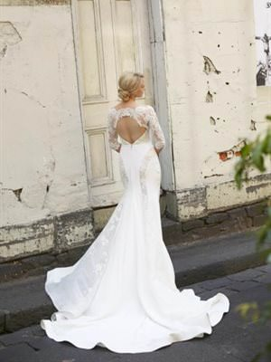 Steven Khalil – Size 8 A-Line dress | Second hand wedding dresses Malvern East - 2