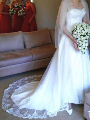 Size 12 dress | Second hand wedding dresses Coorparoo - Size 12