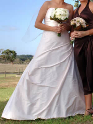 Nicolina – Size 12 Silk dress | Second hand wedding dresses Seaford - Size 12
