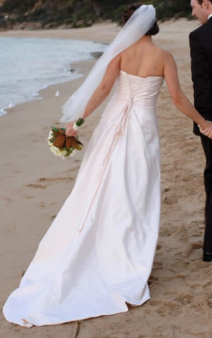 Nicolina – Size 12 Silk dress | Second hand wedding dresses Seaford - 2
