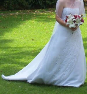 Calabro – Size 10 Satin dress | Second hand wedding dresses Holt - 2