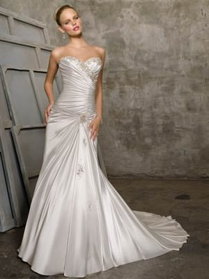 Mori Lee – Size 6 Satin dress | Second hand wedding dresses Bayswater North - Size 6