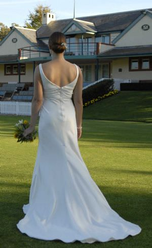 Jean Fox – Size 10 Satin dress | Second hand wedding dresses Annandale - 2