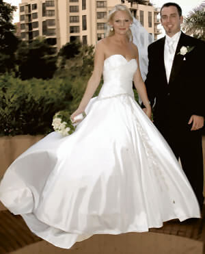 Fiorenza – Size 6 Satin dress | Second hand wedding dresses Westlake - 2