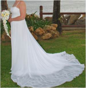 Allure Bridals – Size 10 Chiffon dress | Second hand wedding dresses Lawnton - Size 10