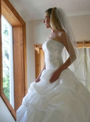 Maggie Sottero – Size 8 Taffeta dress | Second hand wedding dresses mentone - 2