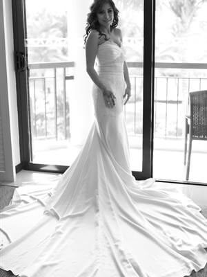 Mermaid Bridal – Size 6 Silk dress | Second hand wedding dresses South Yarra - Size 6