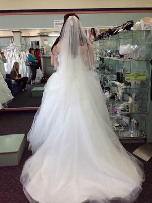 Maggie Sottero – Size 16 Tulle dress | Second hand wedding dresses Birmingham Gardens - 2