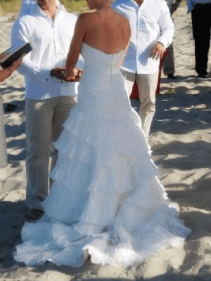 Allure Bridals – Size 8 Polyester dress | Second hand wedding dresses Peregian Springs - 2