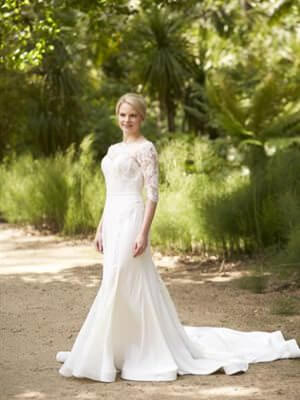Steven Khalil – Size 8 A-Line dress | Second hand wedding dresses Malvern East - Size 8