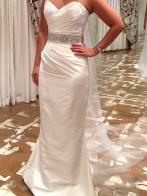 Alexis George – Size 8 Silk dress | Second hand wedding dresses Somerton Park - Size 8