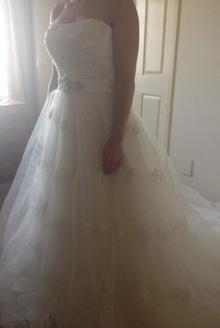 Essense of Australia – Size 12 Strapless dress | Second hand wedding dresses Greenvale - Size 12