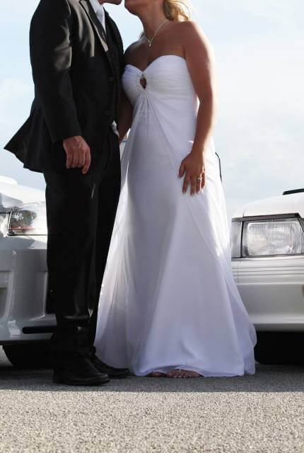 Chiffon dress – Size 12 A-Line dress | Second hand wedding dresses melbourne - 10