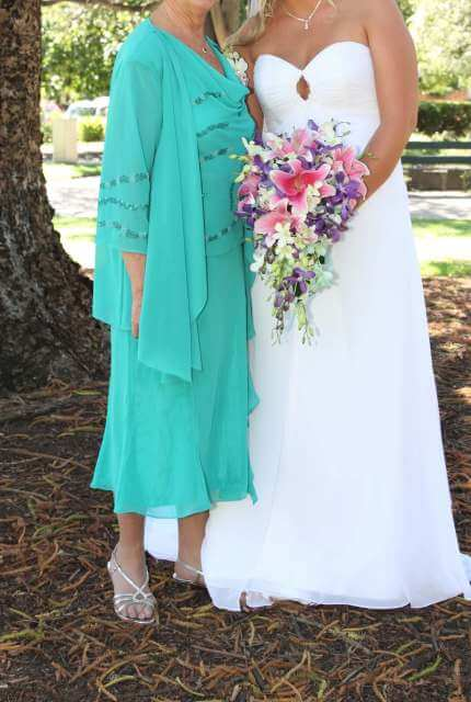 Chiffon dress – Size 12 A-Line dress | Second hand wedding dresses melbourne - 3