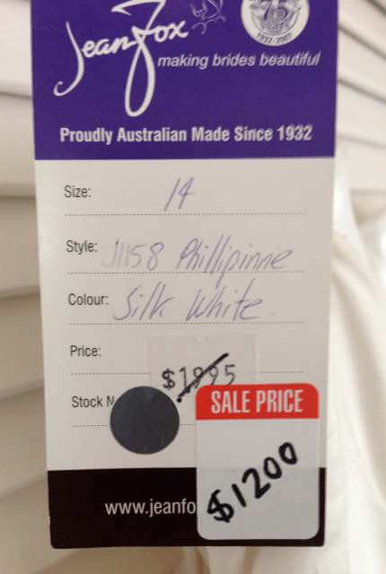Jean Fox – Size 14 A-Line dress | Second hand wedding dresses Port Macquarie - 5