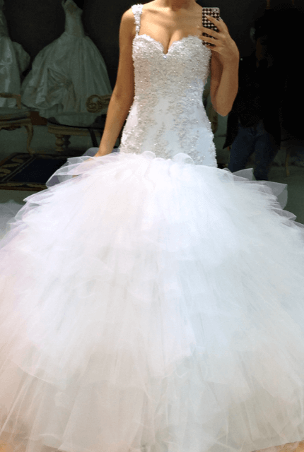 Peretti – Size 6 Fishtail dress | Second hand wedding dresses Wollert - 5