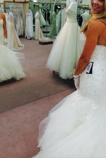 Maggie Sottero – Size 8 Strapless dress | Second hand wedding dresses Sydney - 3