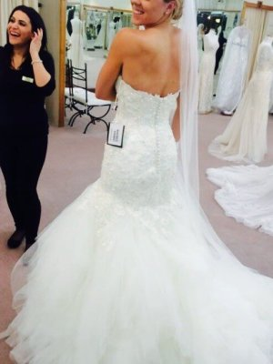 Maggie Sottero – Size 8 Strapless dress | Second hand wedding dresses Sydney - 2
