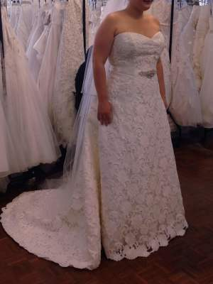 Henry Roth – Size 16 A-Line dress | Second hand wedding dresses Warrnambool - 6