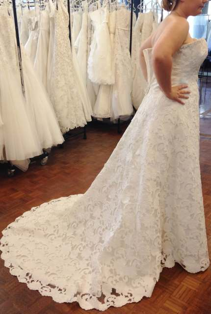 Henry Roth – Size 16 A-Line dress | Second hand wedding dresses Warrnambool - 4