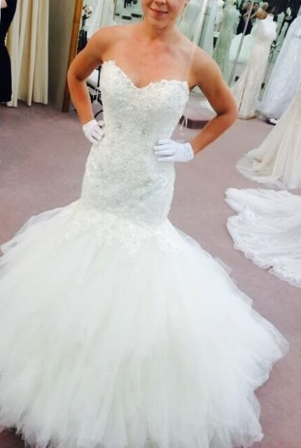 Maggie Sottero – Size 8 Strapless dress | Second hand wedding dresses Sydney - Size 8