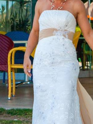 Mermaid Bridal – Size 8 Strapless dress | Second hand wedding dresses Ormeau Hills - 4