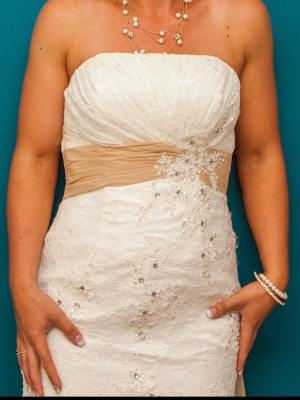 Mermaid Bridal – Size 8 Strapless dress | Second hand wedding dresses Ormeau Hills - 2
